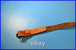 Leather Browning Rifle Sling with Sling Swivels Tube Shaped Center