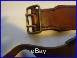 Leather Cartridge Belt and Rifle Sling
