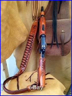 Leather Gunstock Cover, Sling, Forearm No Drill Rossi Ranchhand Henry Mares Leg