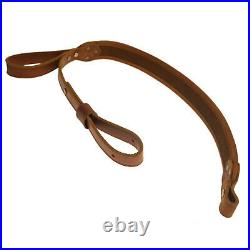 Leather Rifle Sling Adjustable Shooting Belt Holder for Rifle Padded Anti Slip