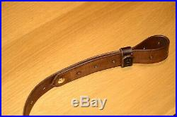 Leather Rifle Sling Ching Sling Design Scout Rifle- Brown Thick