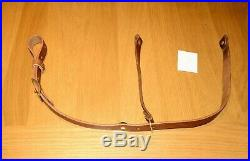 Leather Rifle Sling Ching Sling Design Scout Rifle Sling-mid Brown