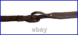 Leather Rifle Sling, Padded with Thumb Strap, Made in USA