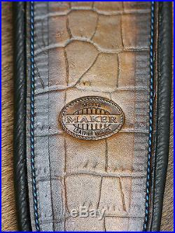 Leather Rifle Sling, Screaming Eagle, Handcrafted by Seelye Leather Works