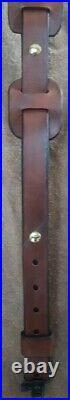 Leather Rifle Sling by Levergun Leather Works LLC handmade, adjustable, Padded