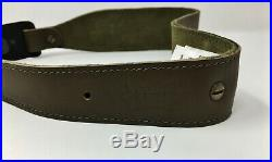 Levy's 2.25 Leather Cobra Rifle/Shotgun Sling SUEDE LINED with Embroidered Turkey