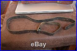 Lot of 4 Vintage Leather (Military) Rifle Slings & a Military Web belt