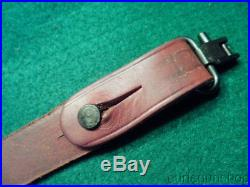 MARLIN FACTORY HORSE With RIDER LEATHER RIFLE SLING 39A 336 1894 With QD SWIVELS