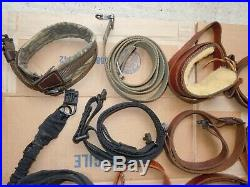 MIX Leather And Cloth Rifle Slings Grab Bag
