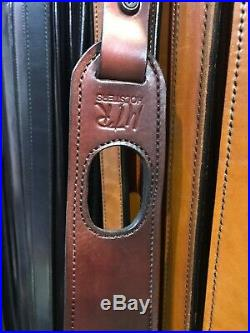 MTR Rifle Gun Sling Straps Non-slip Hunting Padded Rest Hole Genuine Leather