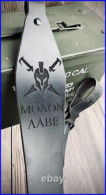 Molon Labe Rifle Sling Spartan Come Take It Sparta Gun Sling Black Moaon Aabe