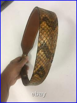 NEW Authentic RATTLESNAKE skin RIFLE SLING CUSTOM hand crafted SLING