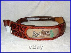 NOS Vintage AA&E Leather Craft Rifle/Shotgun Sling Gun Strap Padded #2012 (6)