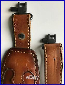 NOS Vintage TOREL Rifle Sling #4746 Eagle Scene Tooled Leather Cowhide Padded