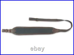 Neoprene Wide Top Rifle Sling with Leather, rifle rest pad Gun, Strap, 4 COLOURS
