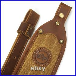 New Leather & Canvas Rifle Shell Holder with Gun Sling, Buttstock & Rifle Sling
