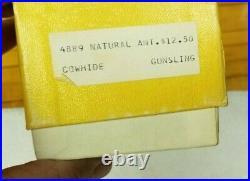 New Vintage TOREL Rifle Sling Tooled Acorn Scene #4889 Top Grain Cowhide Leather