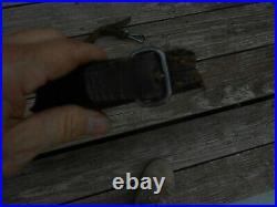Norwegian Krag jorgensen model 1894 rifle original leather sling w clips Norway