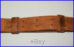 Old Vtg Original WWII Dated 1943 Leather M1907 1903 Mi Garand Rifle Sling Nice
