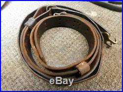 Orig WW1 1918 dated Model 1907 leather rifle sling. 03 Springfield. Model 1917