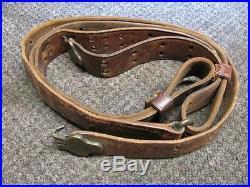 Orig ww1 leather model 1907 rifle sling. Hoyt 1918. Springfield 1903 U. S M1917