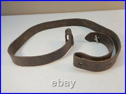 Original Authentic Austrian M95 Leather Rifle Sling with Button