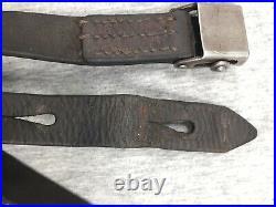 Original Black Leather STG-58 Rifle Sling Austrian Post-WWII FAL