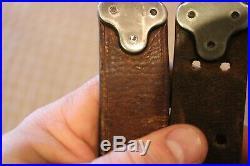 Original M1907 Wwii 03 / 03a3 / M1 Garand Leather Rifle Sling Milsco 1944