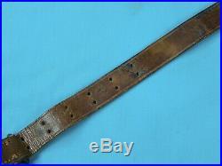 Original RARE US WW2 M 1907 Pattern Boyt 1944 Leather Rifle Sling