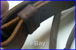 Original Unused WWII Boyt M1907 Leather Rifle Sling / 44 / M1 Garand Springfield