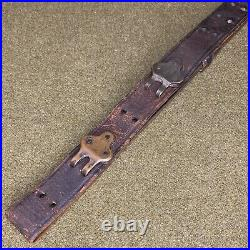 Original WWI US Military M1907 Leather Rifle Sling Maker Not Visible (#1)