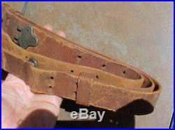 Original Wwii Us'03 /'03a3 / M1 Garand Leather Rifle Sling Milsco 1944