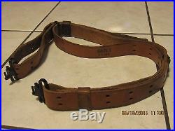 Original classic 1 inch genuine leather rifle sling with quick release swivel