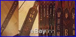 Personalized Custom Leather Rifle Gun Sling shotgun strap lever muzzleloader