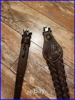 Rare McAlister Sporting Gear Full Leather Rifle or Gun Sling Duck Hunting US