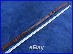 Rare Ww1 Original Us Military Springfield Rifle Leather Sling Made Ria In 1904