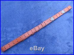Rare Ww2 Original Us Military Springfield Rifle Leather Sling Boyt 1943