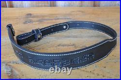 Reserve for 5 Custom Quality Leather Rifle Gun Sling Amish Made Adjustable NEW