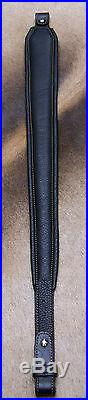 Rifle Sling, Black Leather, Hand Tooled, Made in the USA, Lone Star