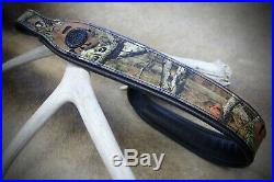 Rifle Sling, Seelye Leather Works, Camouflage Rifle Sling, Made in USA