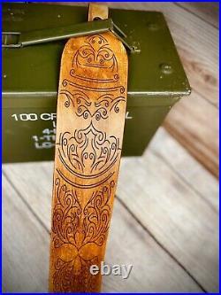 Rifle Sling Strap Handmade Personalized Leather Gun Rifle Shotgun Strap Gift