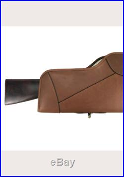 Rifle cases gun slip scope cover soft padded genuine leather vintage