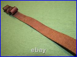 Savage Brown Leather Padded Rifle Sling Suede Lined