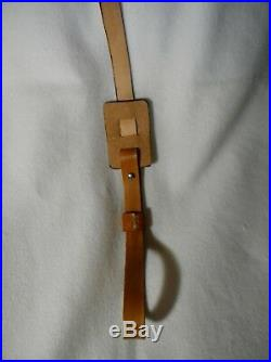 Sling, Rifle Leather, Custom Work, Deer Head And Design, Padded, Adjustable Stra