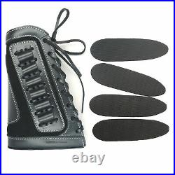 Soft Padded Leather Rifle Ammo Sling with Matching Gun Cartridge Shell Holder