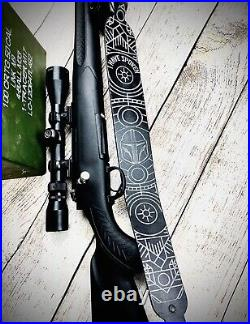 Star Wars Rifle Sling Mandalorian Rifle Sling Personalized Gun Sling Beskar