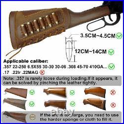 Stock 1 Set Leather Rifle Buttstock + Gun Shoulder Sling Strap USA Free Shipping