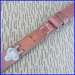 Super Nice WW2 US M1907 Rifle Russet Leather Sling 1903 SPRINGFIELD M1 Garand