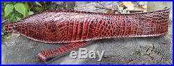 Supreme Cowhide Leather Belly Embossed Gator Rifle Sling + Swivels if needed