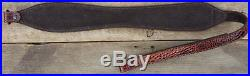 Supreme Leather Rifle Sling Black/Cognac/Ashwood Gator Embossed Double Scute